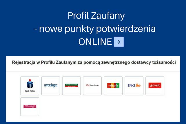 Profil Zaufany- nowe punkty potwierdzenia ONLINE